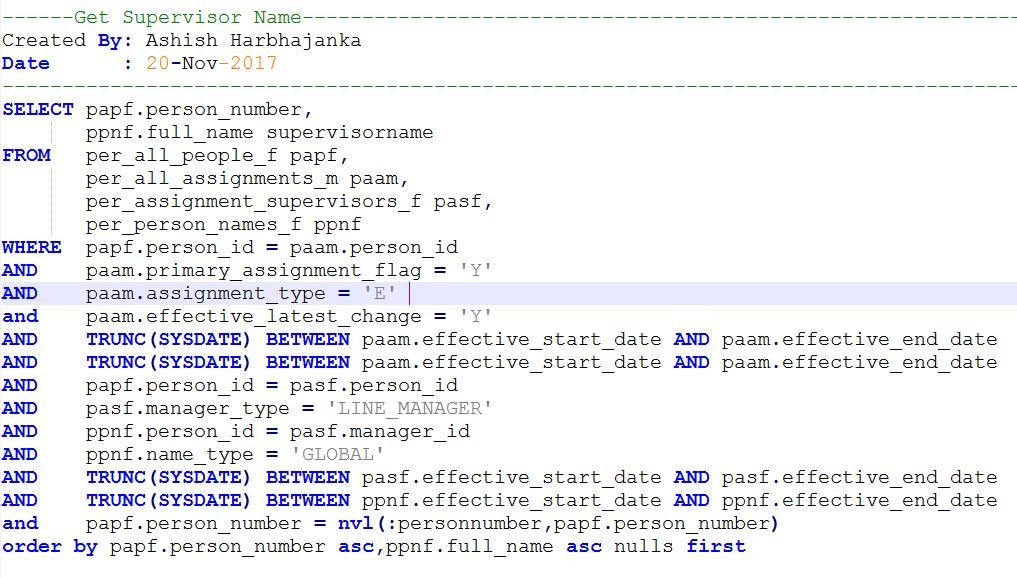 Some Commonly Used Queries in Oracle HCM Cloud
