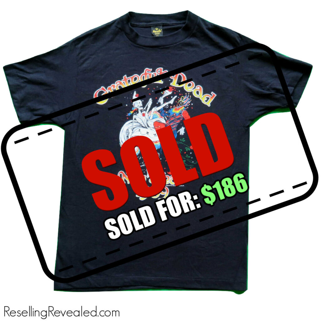t-shirt sold fast on eBay