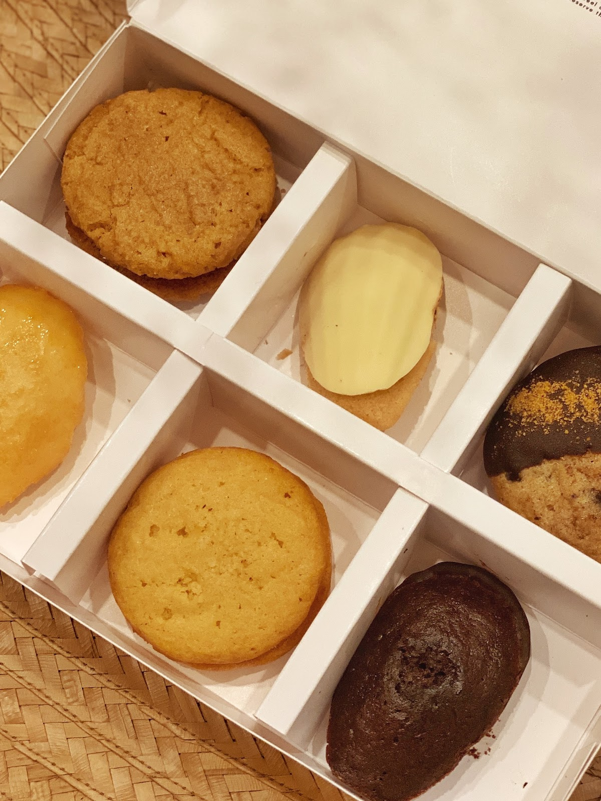Boxed pastry treats from Eaterior, a local Davaoeño pastry shop.