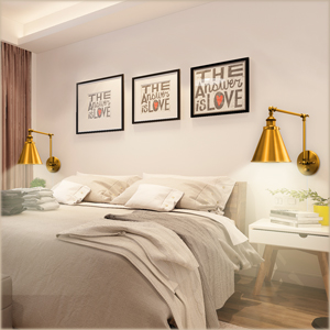 Sconce Out the Headboard bedroom wall decor ideas