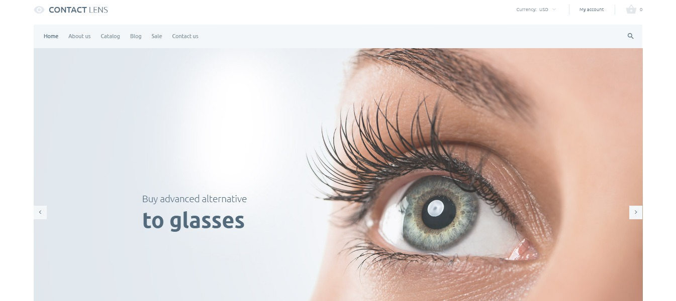 Shopify medical themes contact lens