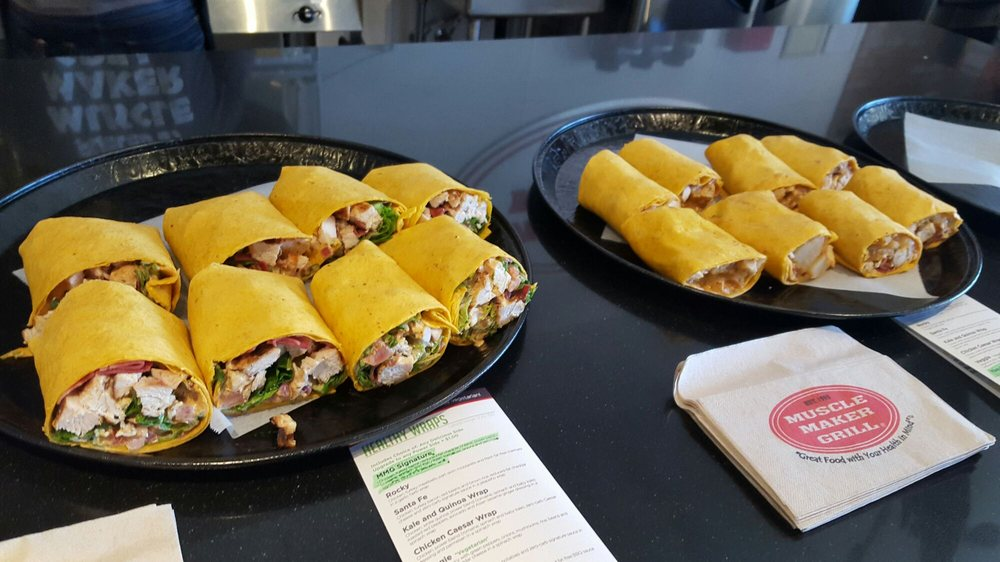 Photo of Muscle Maker Grill - Las Vegas - Las Vegas, NV, United States. MMG Signature (left) and Yee-ha! Wraps