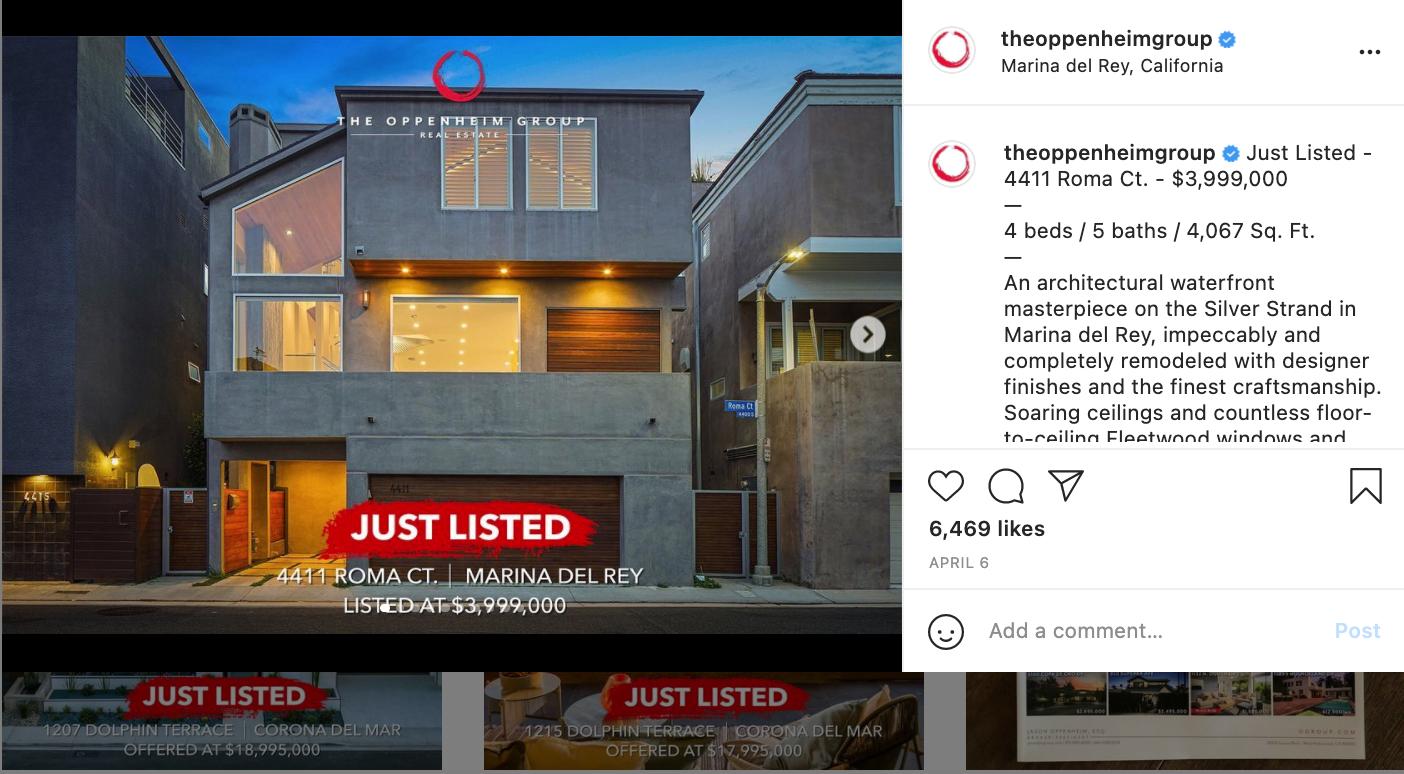 online listings example