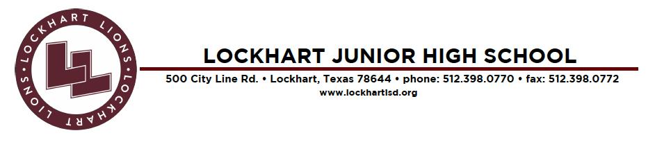 LJHS letterhead