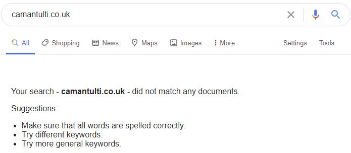 пример несуществующего домена