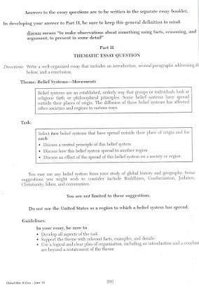 Regents Prep Global History Thematic Essay