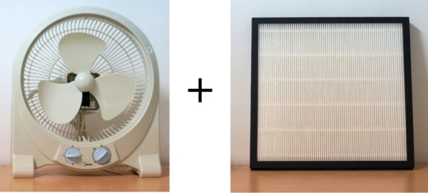 Air Purifier fan and Filter Combination Simple and Cheap not expensive