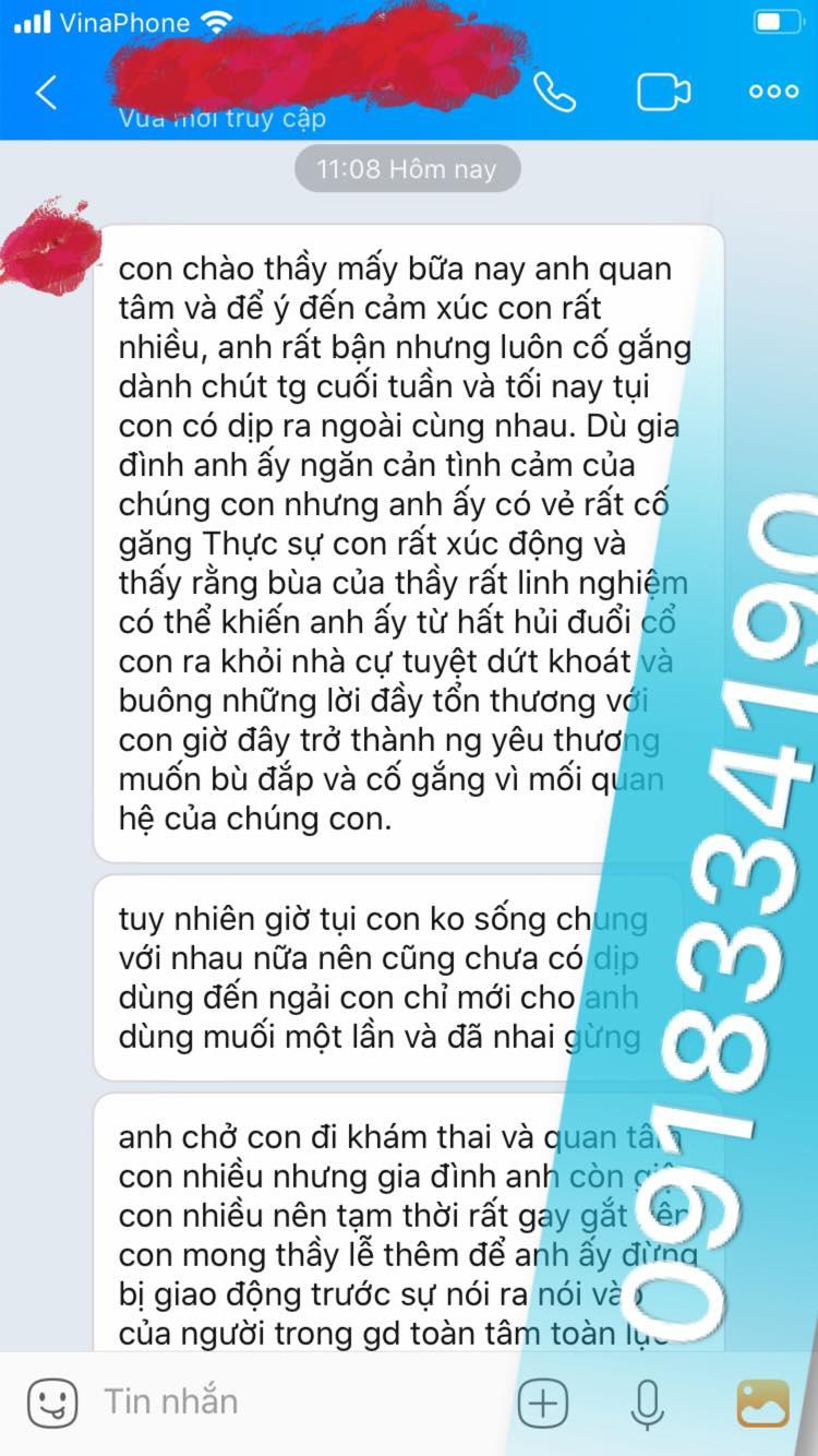 yêu của thầy là phương pháp thỉnh bùa có từ ngàn đời của dân tộc Thái. Chính vì thế chỉ sau 1 - 2 tháng thỉnh là bùa đã có tác dụng.