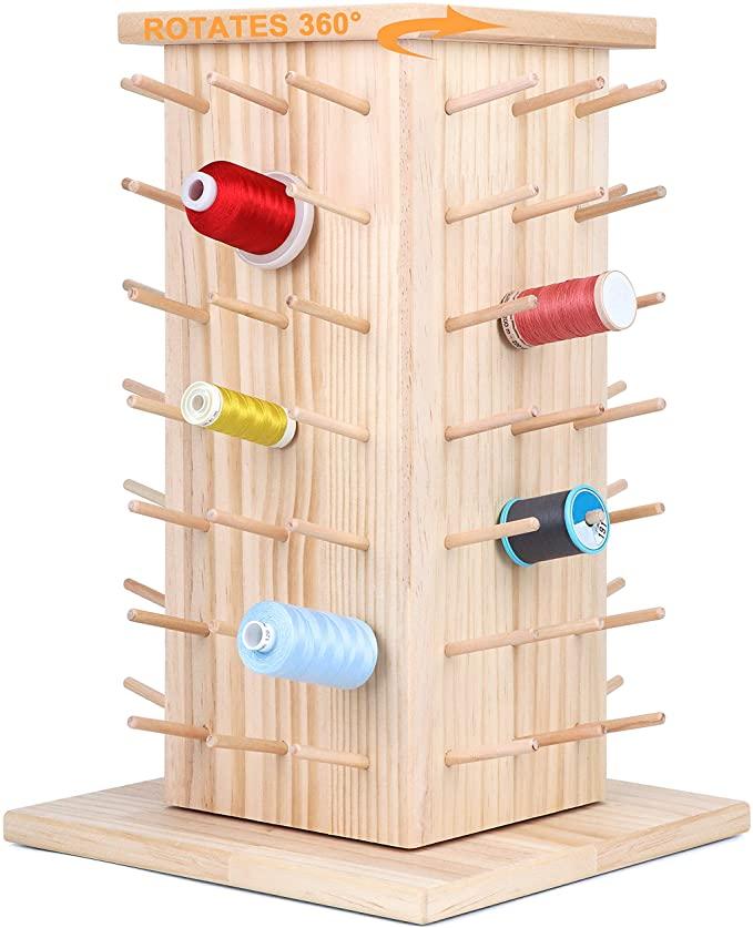 8. Rotating Tabletop Thread Storage