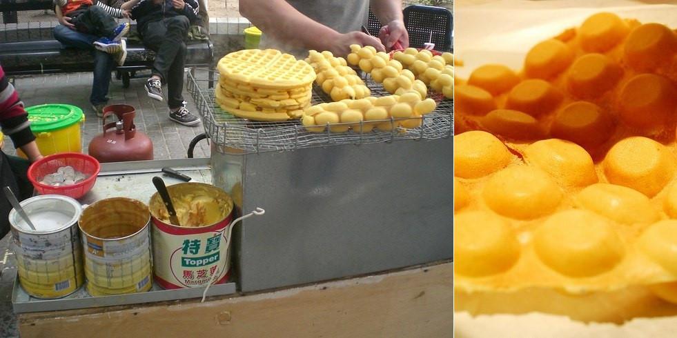 Gai Daan Jai (Bánh quế trứng): Được bày bán trên những con phố khắp Hong Kong, Gai Daan Jai hấp dẫn du khách với vị trứng đậm đà và giòn tan.