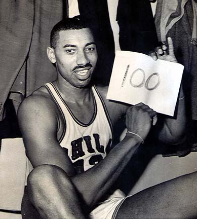 http://en.wikipedia.org/wiki/Wilt_Chamberlain's_100-point_game
