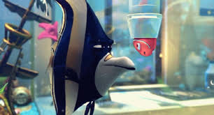 Image portraying Nemo from Finding Nemo stuck in the water filter as an example of Hauge's Stage III: Progres story plot structure.
