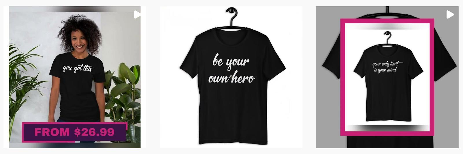 I Luv Me Shop | Motivational black t-shirts