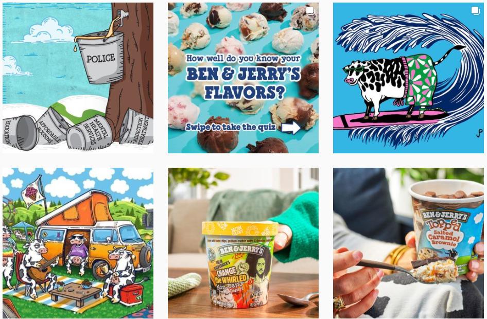 Best brands on Instagram: Ben and Jerry's