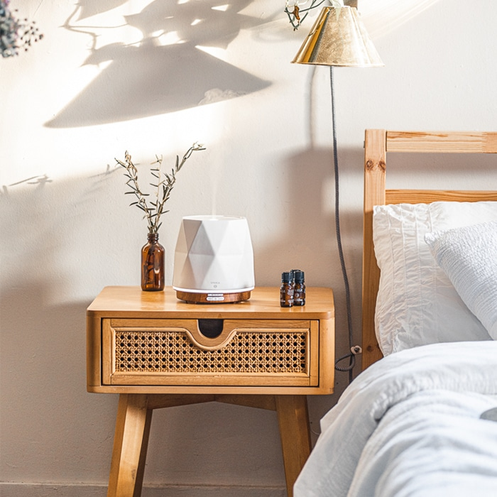 nightstand decor: A Diffuser With A Glass Vase