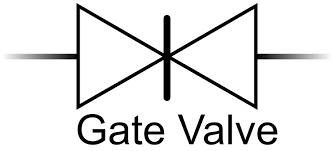 Gate valve symbol