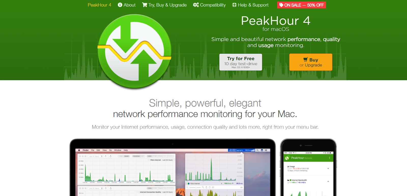 Mac Network Monitoring Software - PeakHour 4