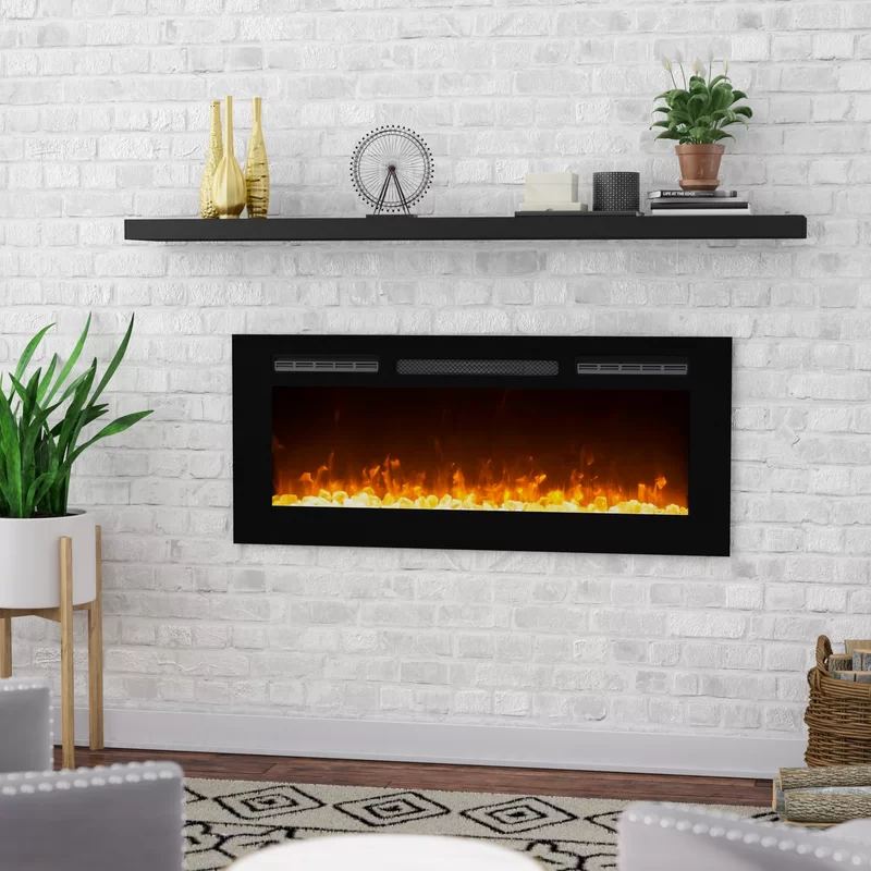 Electric Fireplace Under Mantel Shelf