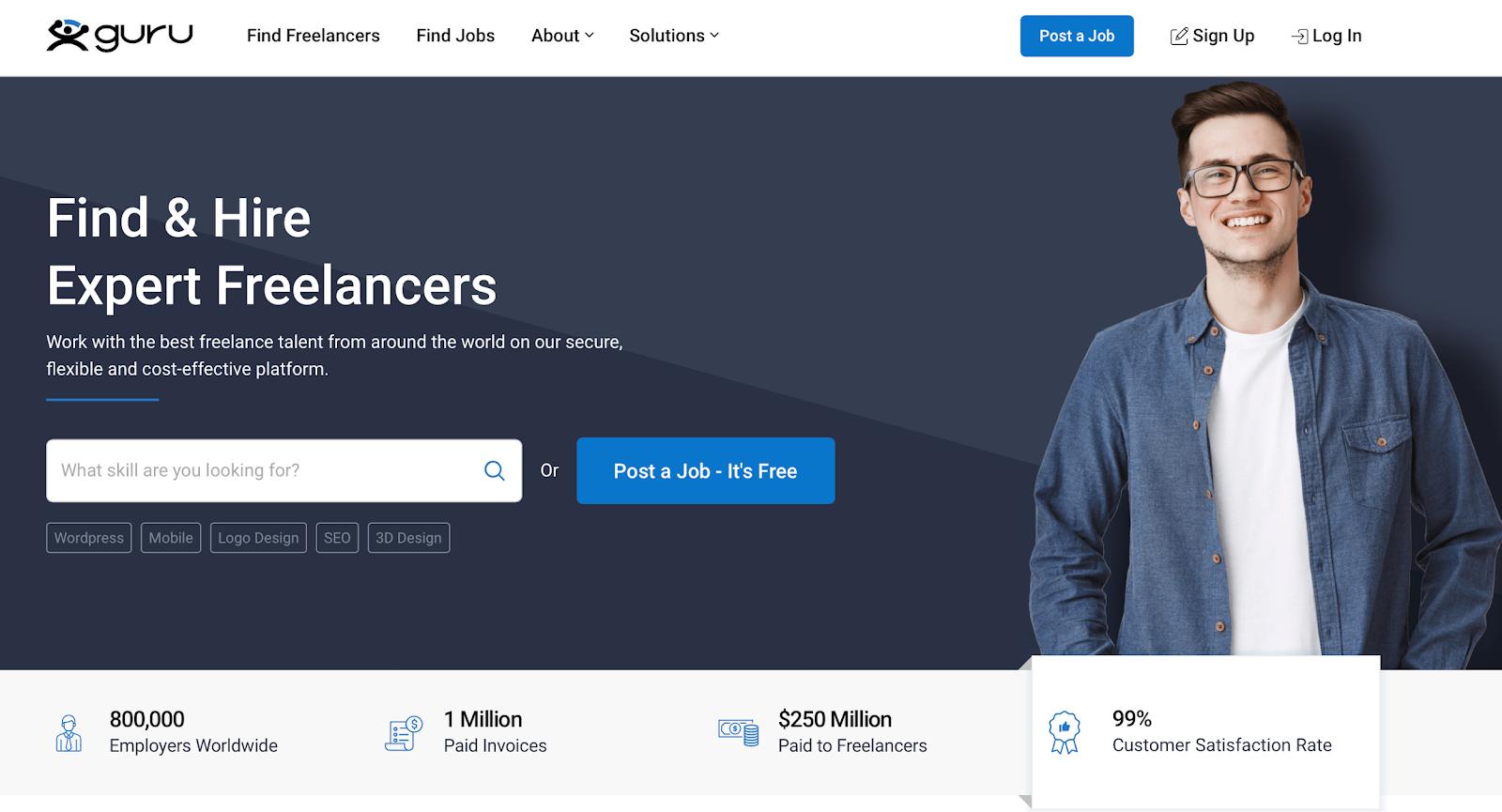 Guru.Com - Freelancing websites for beginners