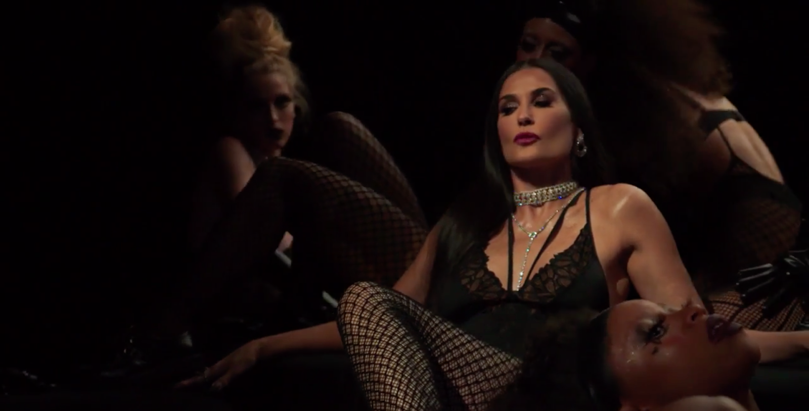 Demi Moore Wears Black Lingerie in Rihanna's Savage x Fenty Show