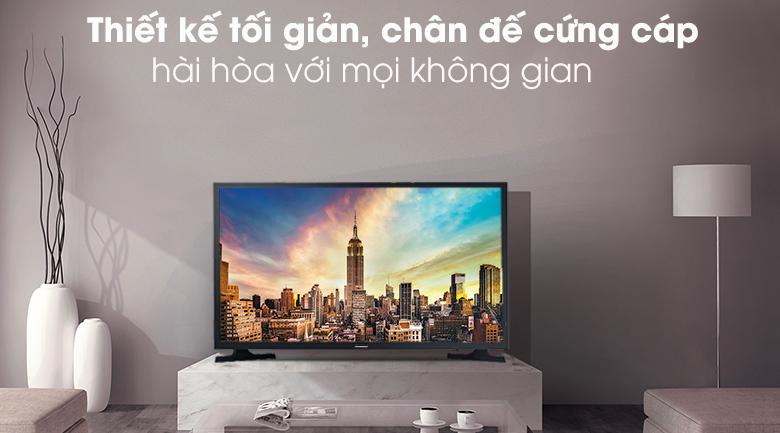Tivi Samsung 32 inch có thiết kế tối giản, gọn nhẹ