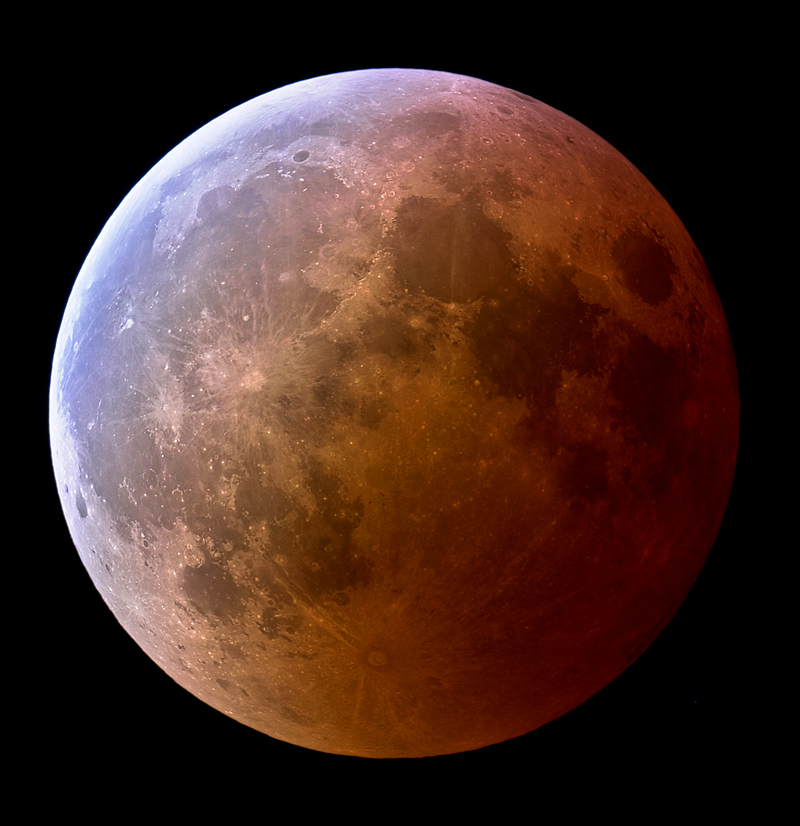 Picture of the Moon when Eclipsed