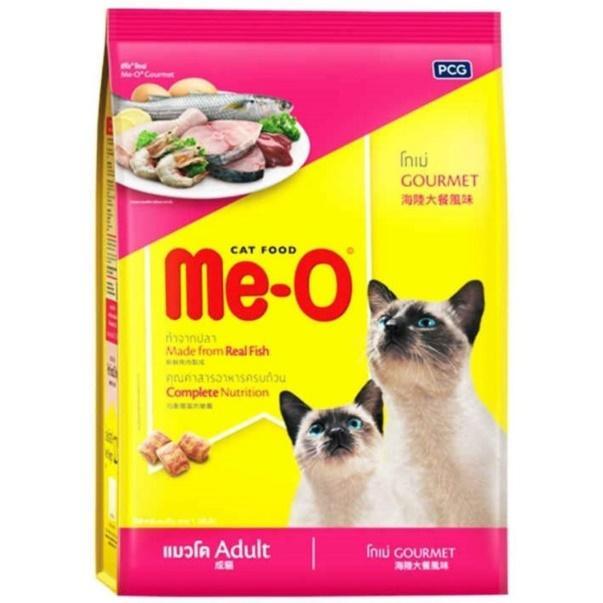 MeO มีโอ อาหารแมวแบบเม็ด ที่อายุตั้งแต่ 1 ปีขึ้นไป สูตรโกเม่ (1.1Kg. , 3Kg.)