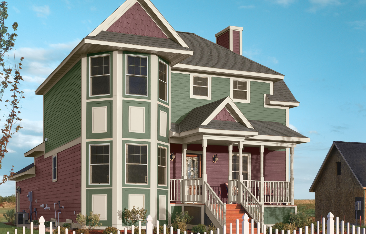 One Of The More Unexpected Trending Exterior House Colors 2019 Consists A Two Toned Combo Earth Tones Such As Green And Brown Are Gaining In