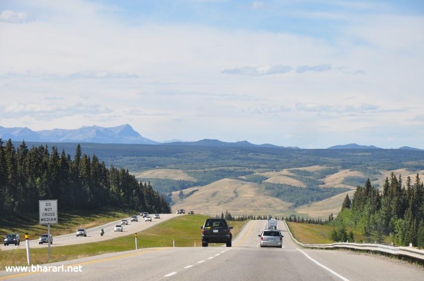 The drive from Calgary to Banff starts off with rolling hills giving way to spectacular mountain scenery as you enter Banff