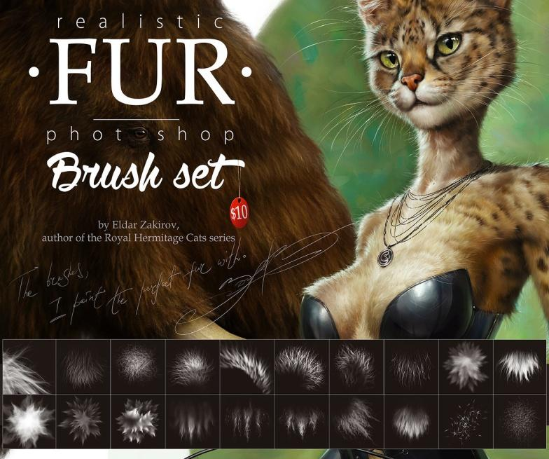 FUR Brush Set• For realistic fur. 20 excellent brushes for ...