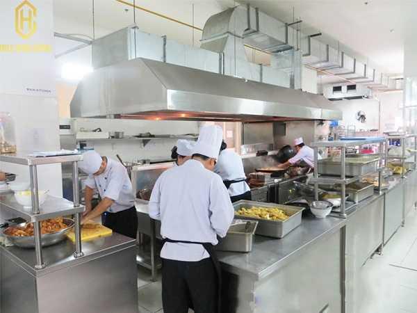 bếp inox nhà hàng
