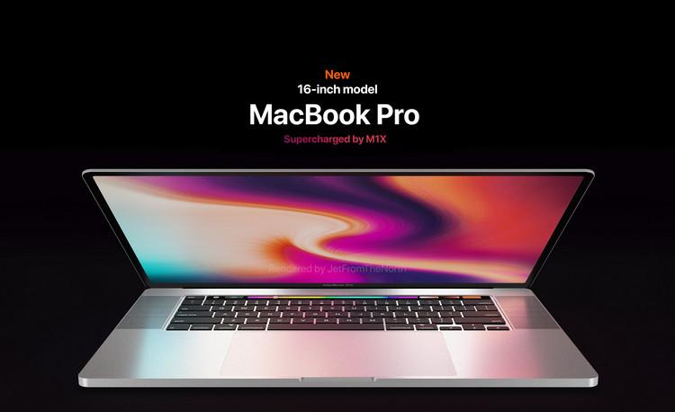 Thiết kế dự đoán MacBook Pro M1 16 inch với màn hình, dải loa và trackpad lớn