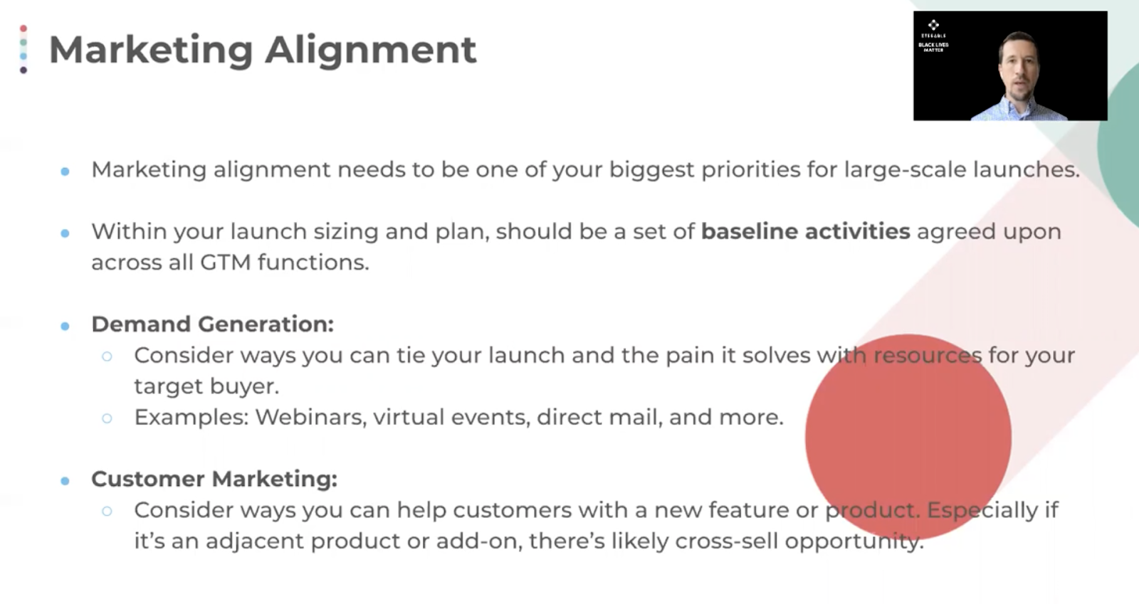 Align your marketing during a large-scale launch.