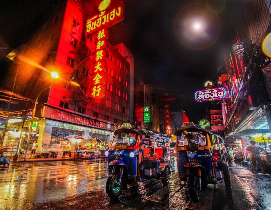 Tuk-Tuks in Bangkok's China Town