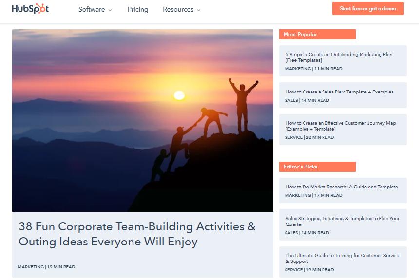 HubSpot's blog