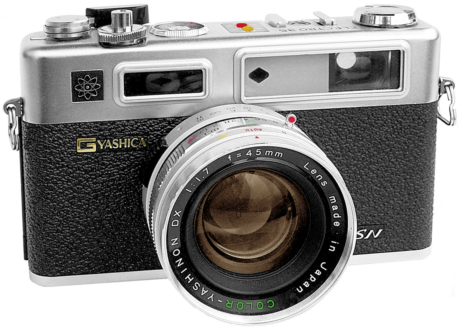 A photo of a Yaschica Electro 35mm film camera