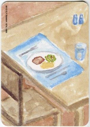 Карта из колоды метафорических карт Ох: стол с едой
