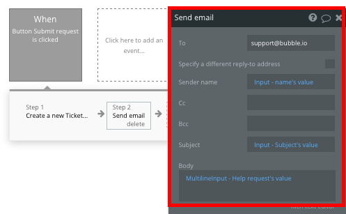 Sending a Zendesk support ticket as an email