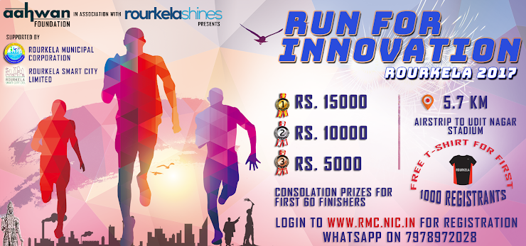 FIRST THOUSAND REGISTRATIONS TO GET FREE #RUNFORINNOVATION MINI MARATHON T-SHIRT and Cash Prizes for Winners.
