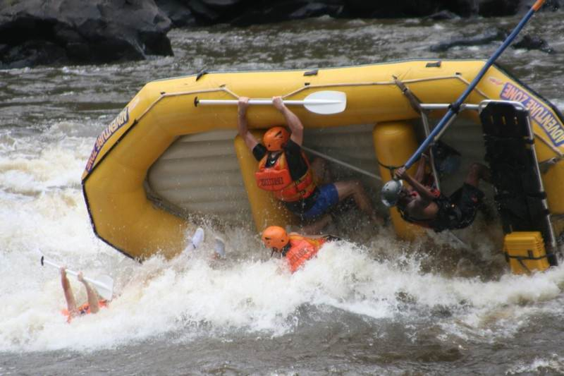 Zambezi river white water rafting