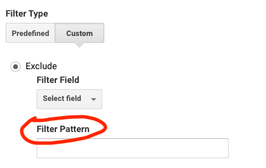 types de filtres google analytics