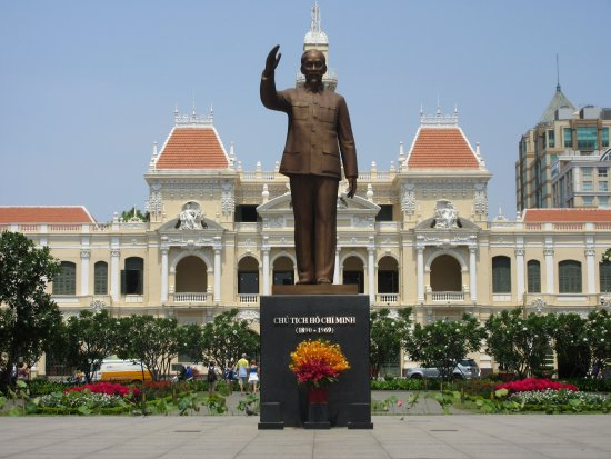 The statue of Ho Chi Minh