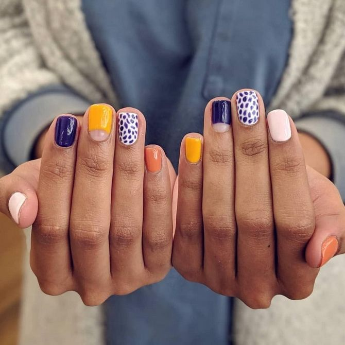 fashionable manicure for short nails