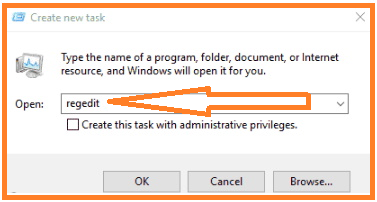 Open Registry Editor Through Task Manager in Windows 10