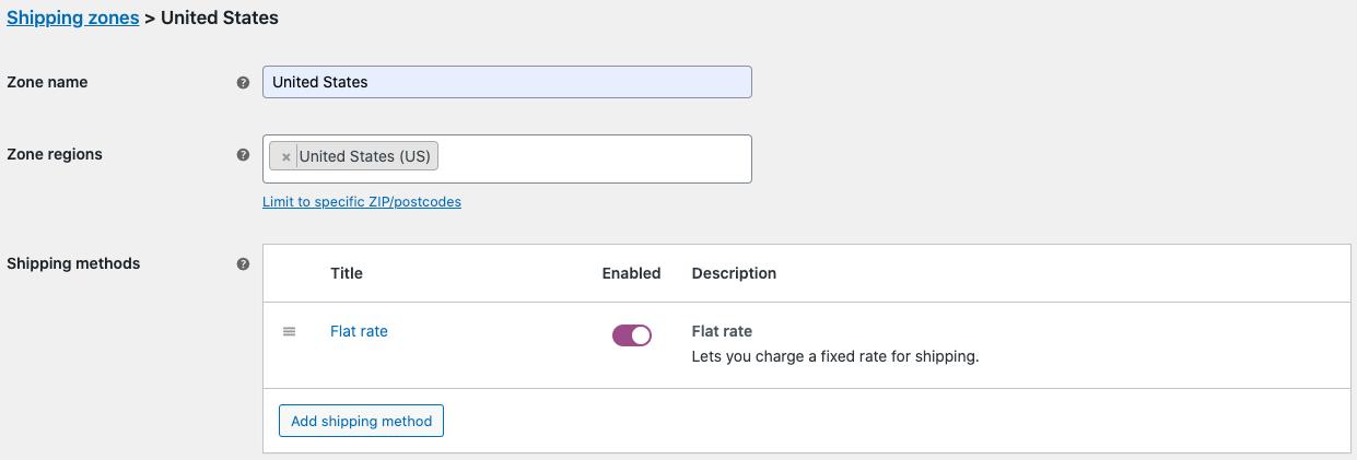 Add flat rate shipping method