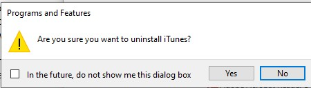 uninstall iTunes