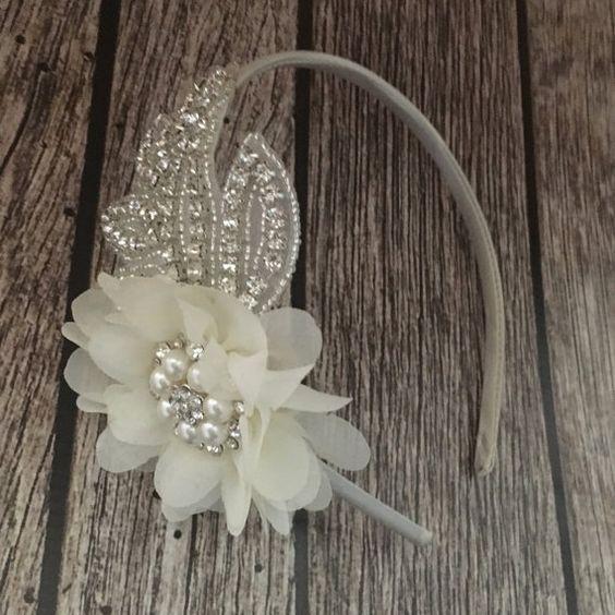 Hey, I found this really awesome Etsy listing at https://www.etsy.com/listing/279150178/rhinestone-headband-ivory-headband