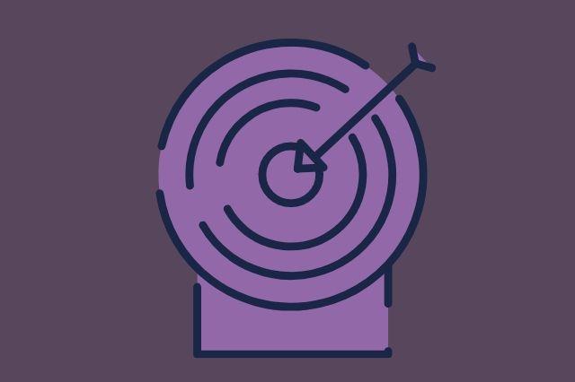 An arrow straight on target.