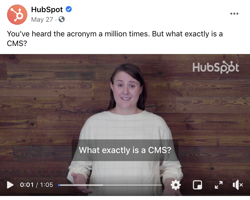 Hubspot Education Social Post