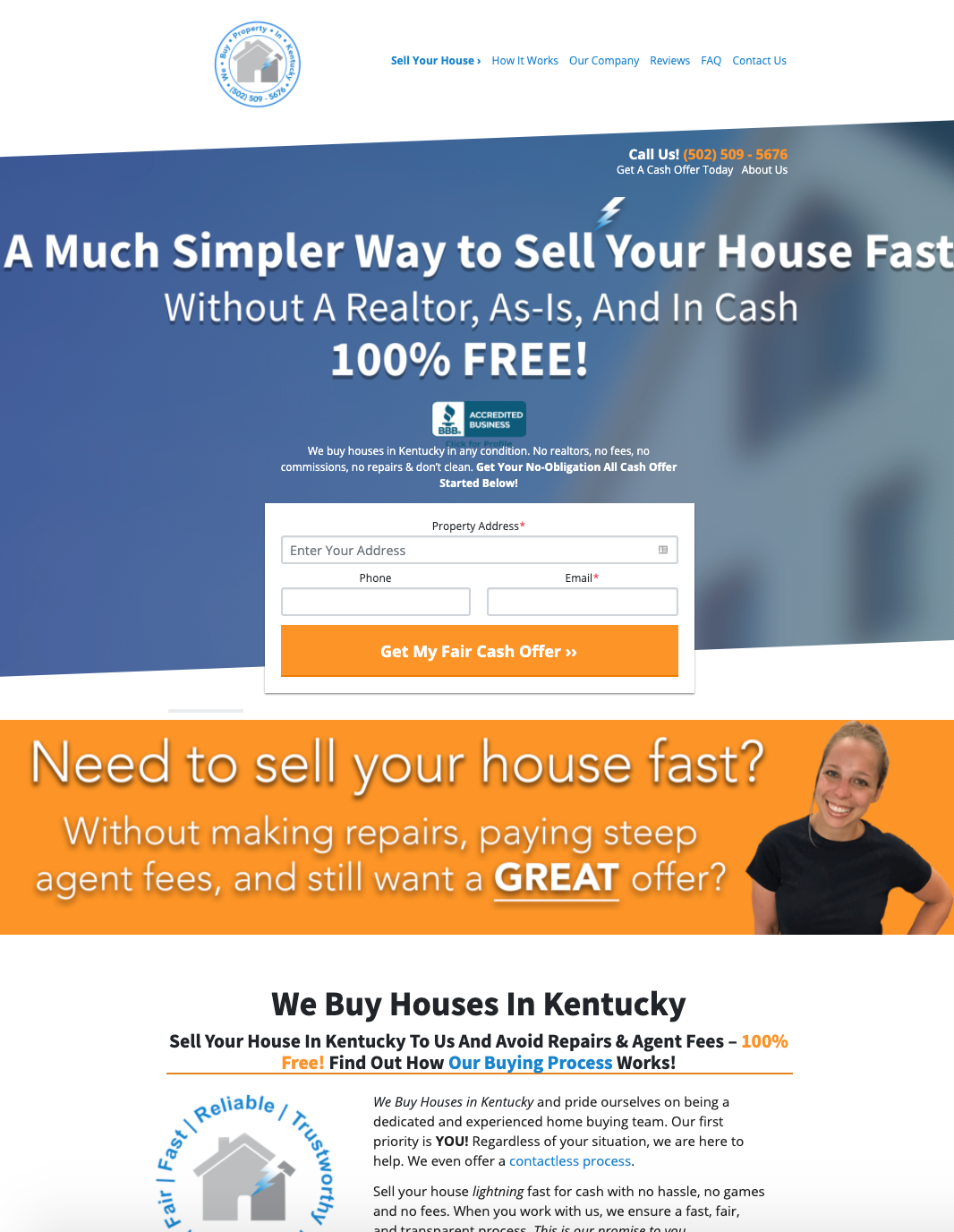 We Buy Property In Kentucky service page example